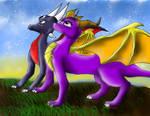 Spyro 'n' Cynder wallpaper
