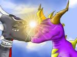 Spyro and Cynder - Hug