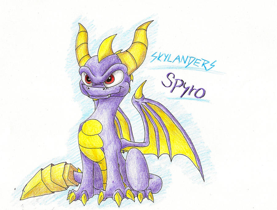 SKYLANDERS: Spyro once again by IcelectricSpyro