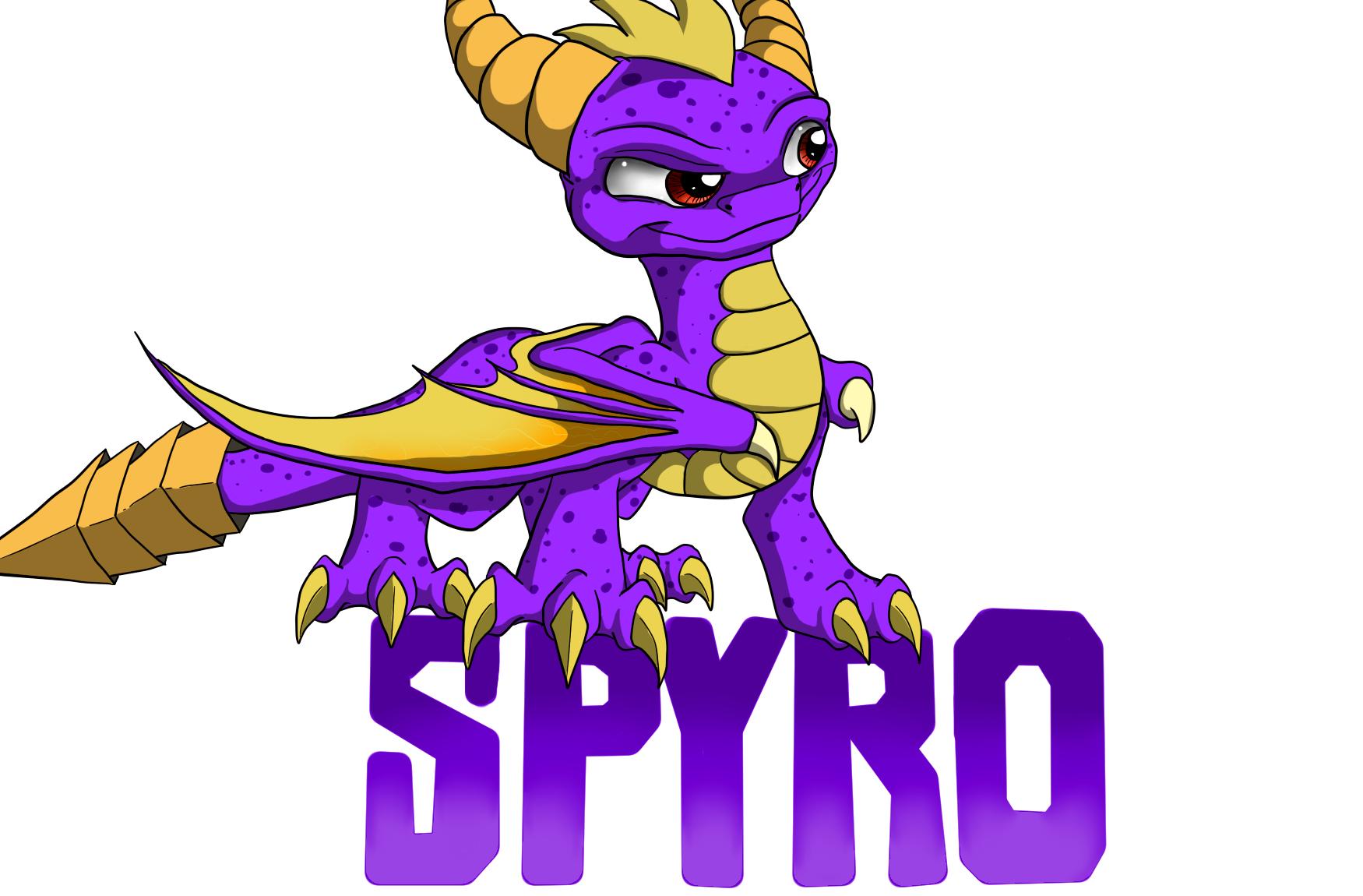 The purple Skylander by IcelectricSpyro