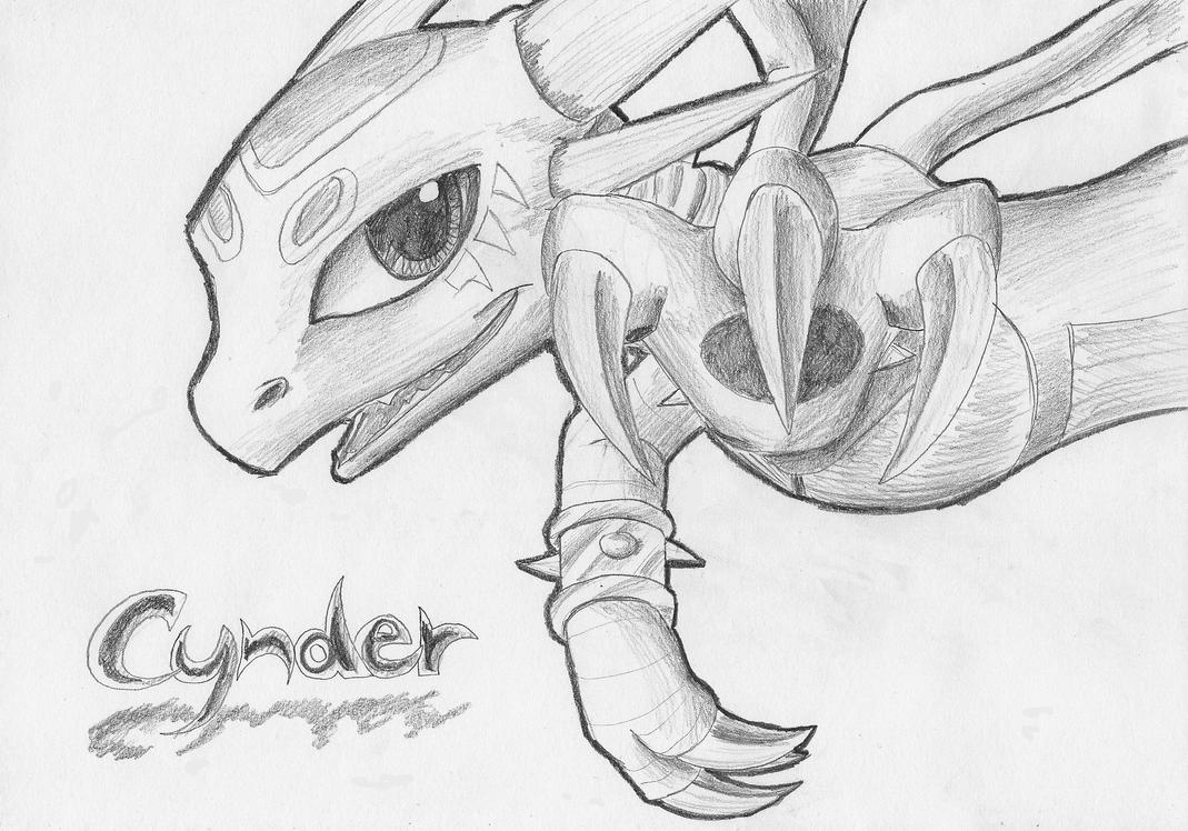 Cynder of Skylands by IcelectricSpyro
