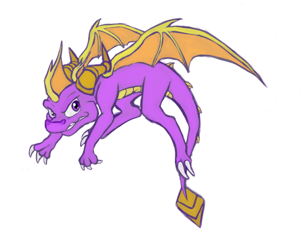Painty Spyro by IcelectricSpyro