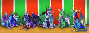 Christmas Group Shot - commission