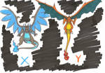 X and Y Charizards