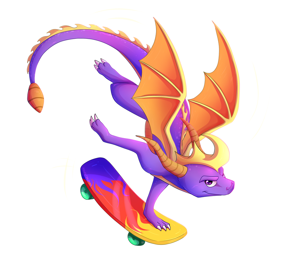 the_skateboarding_dragon___speedpaint_by_icelectricspyro-db8sevv.png