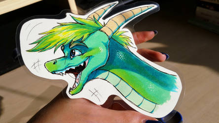 The Green Haired Dragon by IcelectricSpyro