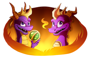 SPYRO WEEK - Day 1 and Day 2 by IcelectricSpyro
