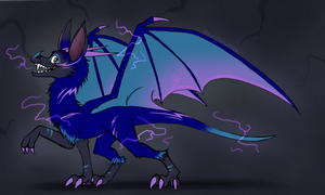 Dragon Egg Hatched - Electric Bat