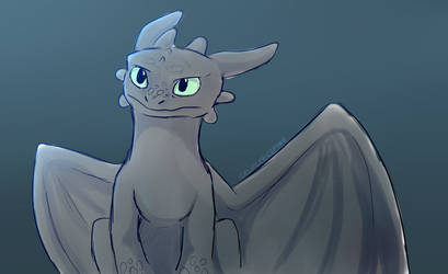 Toothless Doodle by IcelectricSpyro