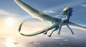Paminto's Flight - commission by IcelectricSpyro
