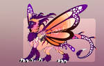 Dragon Adoptable AUCTION - Sunset Kisses (CLOSED)