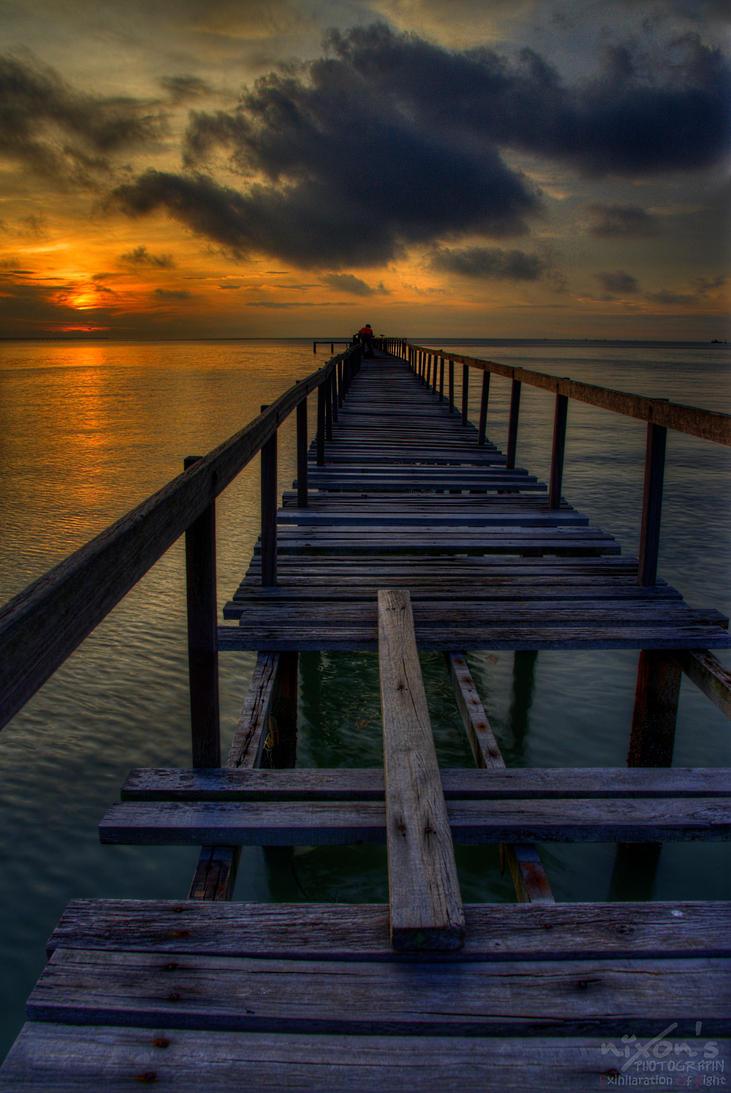 Sunrise of Teluk Tempoyak, Penang by fighteden