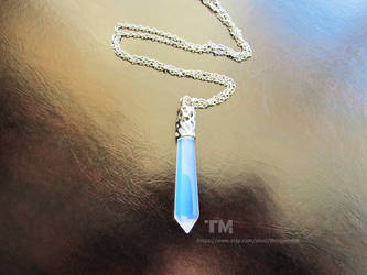 Ice Crystal - Opalite Stone Pendant Necklace