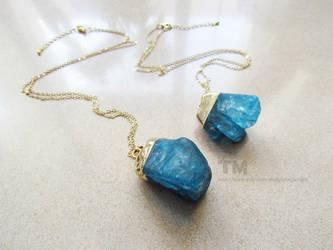 Blue Crystal - Quartz Necklace
