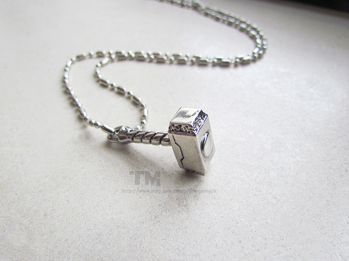 Thor's Hammer - Thor Inspired Necklace by thingamajik