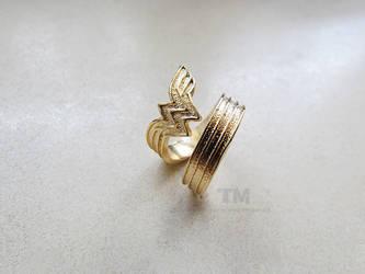 Wonder Woman - WW Inspired Ring by thingamajik