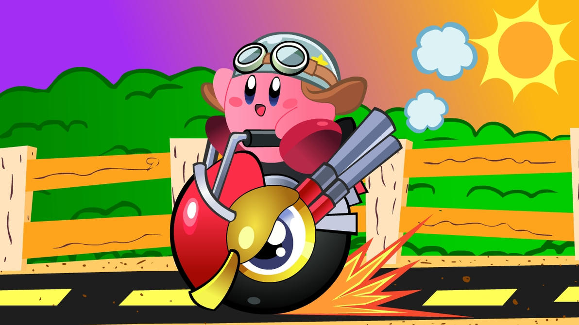 Kirby and Wheelie by ChinoSpike2