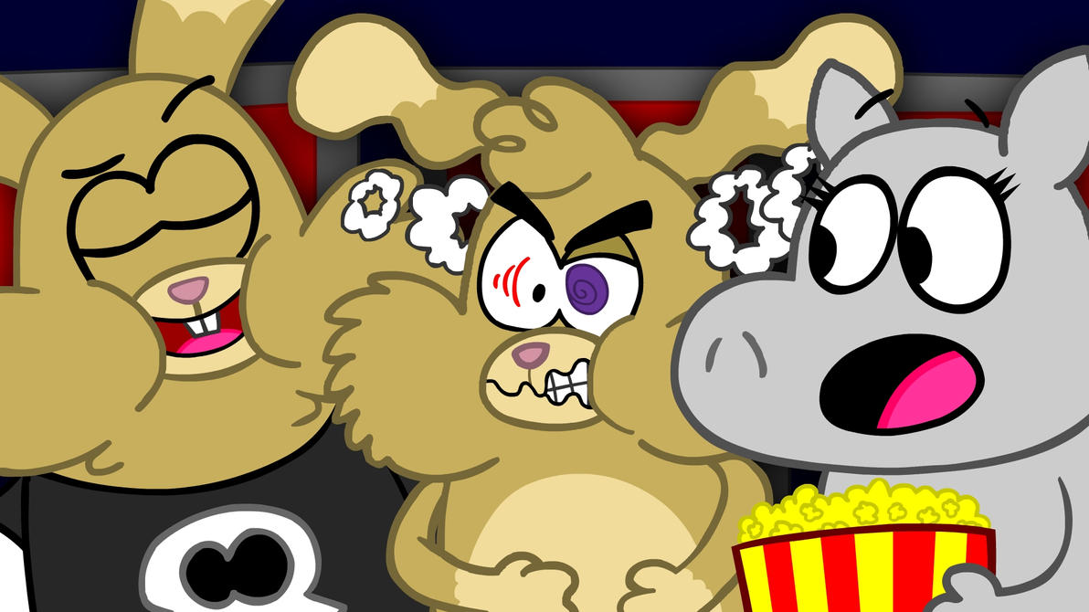 At the Movies!!(REMAKE) by ChinoSpike2