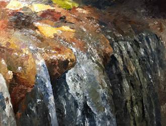 Peaceful Garden Waterfall