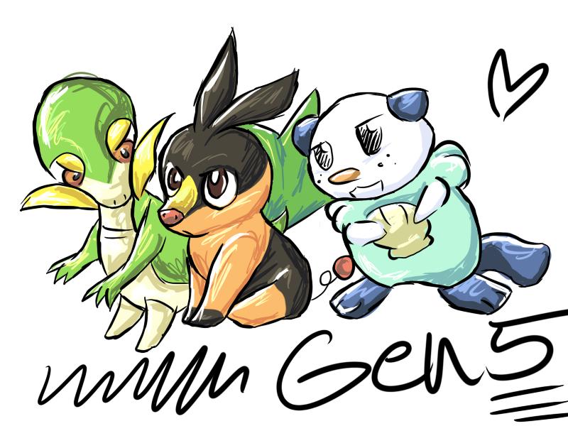 generation 5 pokemon starters. Isshu Starter Pokemon- GEN5-