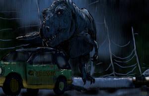 Jurassic Park T-rex by tlmolly86