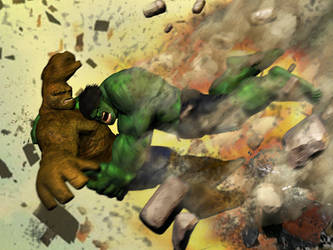 Hulk Vs Thing by tlmolly86