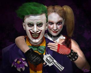 Joker And Harley by tlmolly86