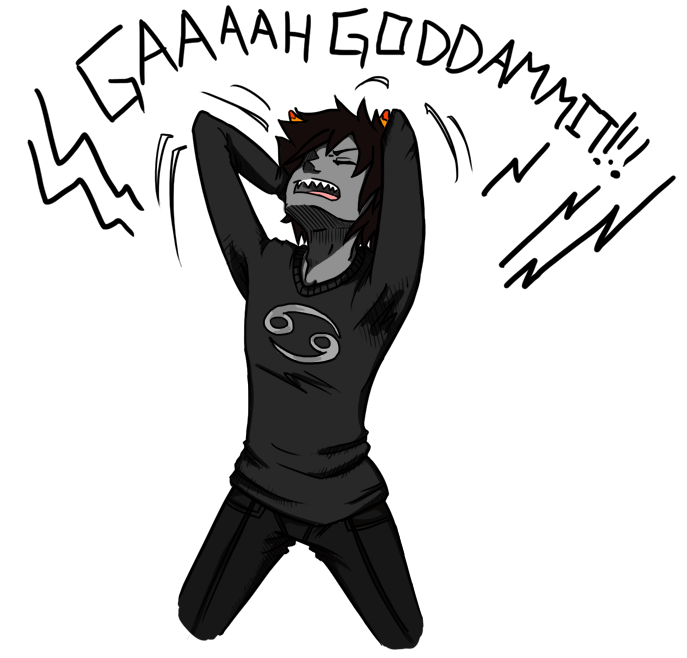 Karkat: Rage by A-Catter-is-Madder