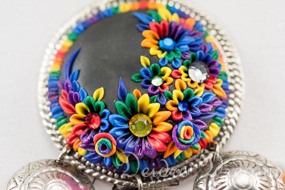 Tribal Hippie Gypsy Rainbow Necklace Earrings Set by DeidreDreams