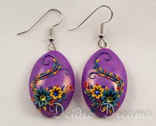 Spring Equinox Polymer Clay Flower Earrings by DeidreDreams