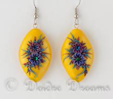 Gypsy Song Flower Earrings by DeidreDreams