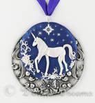 I Believe in Unicorns Polymer Clay Art Pendant