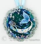 In Frozen Seas Mermaid Art Pendant