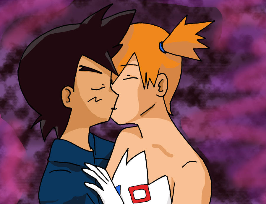 ash and misty kiss the girl № 334807