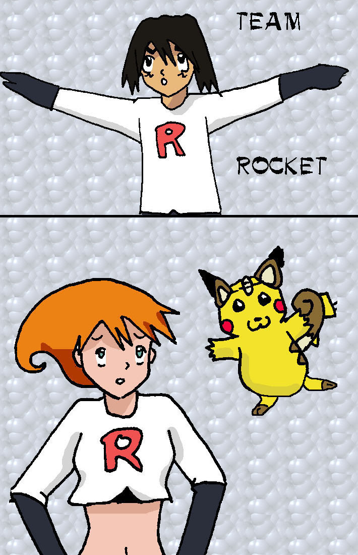 Ash and Misty as team rocket by rainbowPudding18 on deviantART