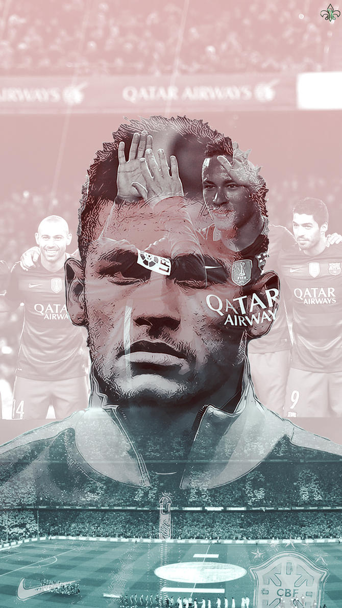 Wallpaper iphone neymar - Neymar Iphone Wallpaper By Sam4saken