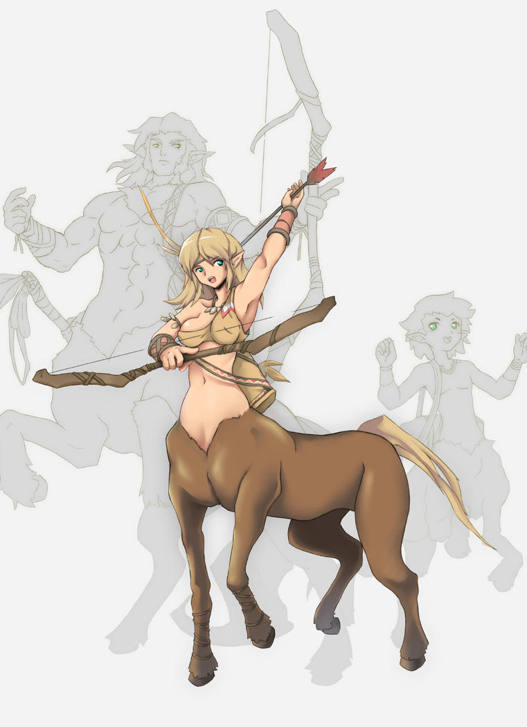 Female Centaur by Orcaleon