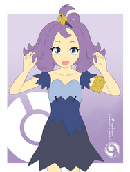 Lineart_Pokemon Acerola X3 by Orcaleon