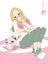 Lineart_Pokemon Mina Jigglypuff by Orcaleon