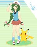 Pokemon Trainer Nanka and Jolt pikachu _Commission