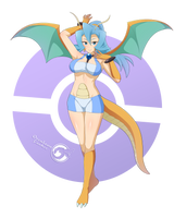 Clair Dragonite _Pokemonster Girl 19 by Orcaleon