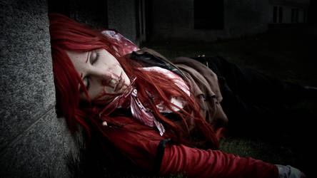 Grell Cosplay - beaten. by diriagoly