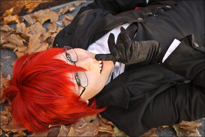 Kuro Cosplay - young Grell by diriagoly