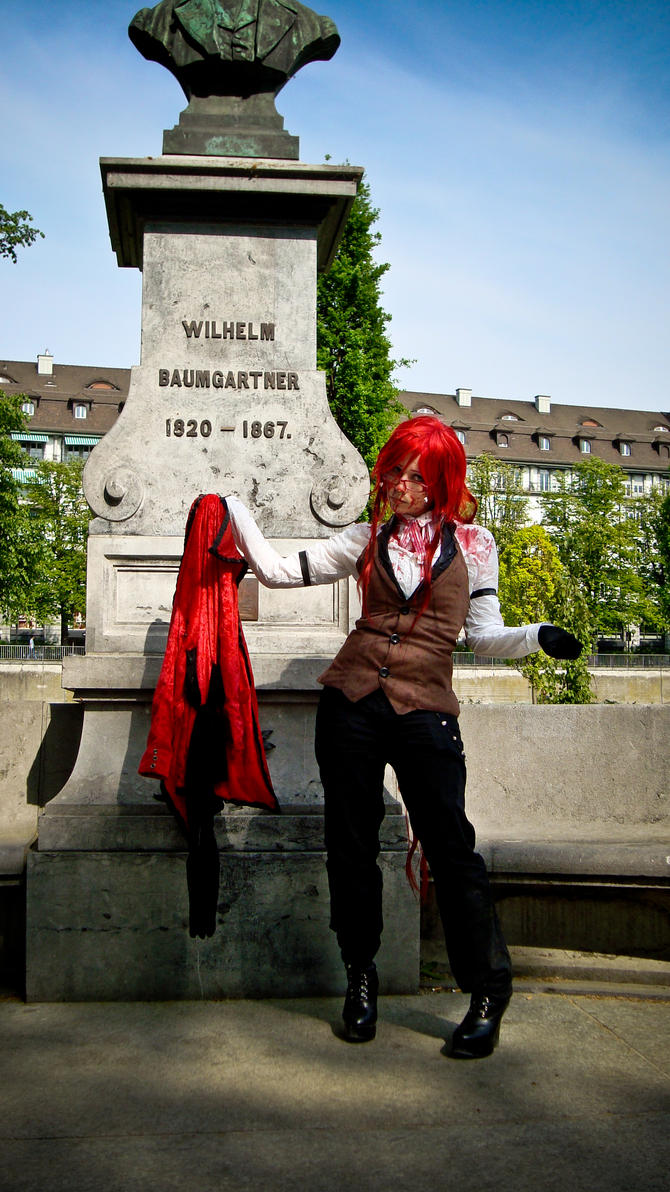 Grell Cosplay - Dirty Coat! by diriagoly