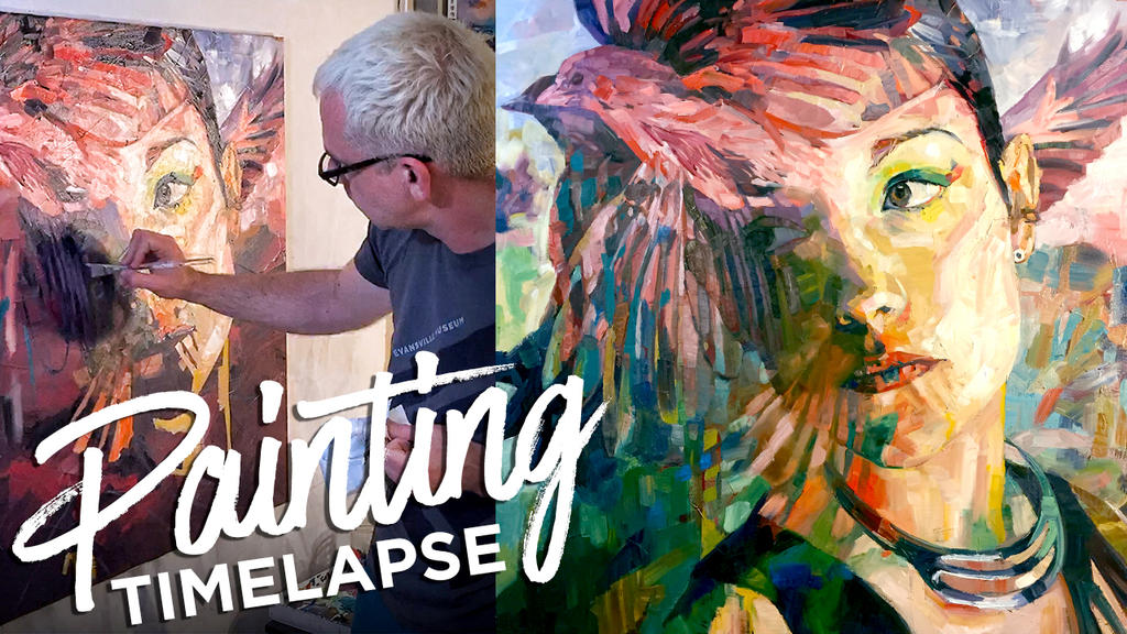 Time Lapse Surreal Oil Painting Female Figure by paulypants