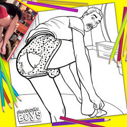 Ripped Undies Pinup Boy Coloring Page by paulypants