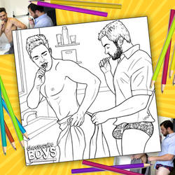 Morning Routine Coloring Page by paulypants