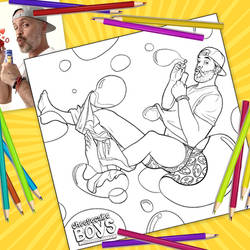 Bubble Butt Cheesecake Boy Coloring Page by paulypants