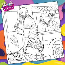 Ice Cream Truck Cheesecake Boy Coloring Page