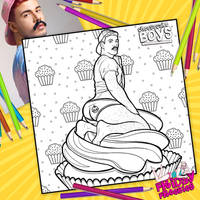 Cupcake Cheesecake Boy Coloring Page